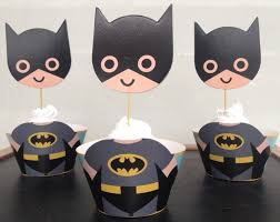 Batman Decoration Free Shipping Cute Batman Cupcake Wrappers Toppers Decoration For