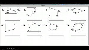 practice 15 5 quadrilaterals and other polygons youtube
