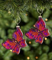 Pink Butterfly Christmas Decorations by 30 Best Ornaments Images On Pinterest Christmas Ornament
