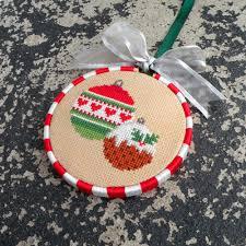 christmas cross stitch pattern chart pdf ornament counted
