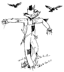 scarecrow coloring pages 2 coloring pages print