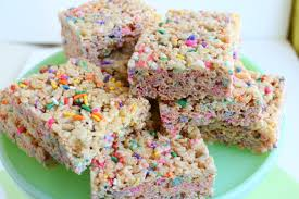birthday cake rice krispie treats big small kitchen