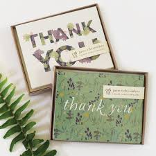 succulent thank you cards boxed set of 8 june december