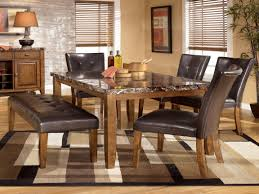 dining room ashley furniture dining room set with bench oval