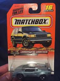 matchbox lamborghini lamborghini countach toy car die cast and wheels matchbox
