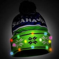 seahawks light up sign nfl men s light up beanie seattle seahawks