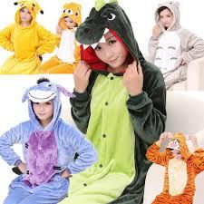 winter flannel sleepwear fleece animal pajamas warm