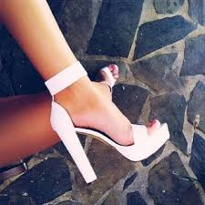 White Comfortable Heels High Heel Shoes White Heels High Hells And Ankle Straps