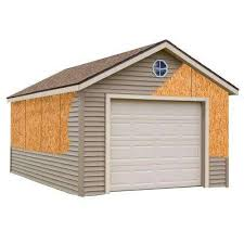 22x22 2 Car 2 Door Detached Garage Plans by Garages Carports U0026 Garages The Home Depot