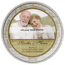 50th anniversary plate personalized 50th anniversary gifts on zazzle