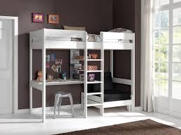 lit en hauteur avec canapé lit mezzanine lena avec canapé lit blanc acheter en ligne emob