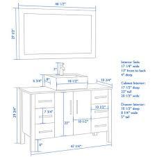 Standard Height Of Bathroom Vanity by Bathroom Mirror Height Above Vanity Bathroom Decor Ideas