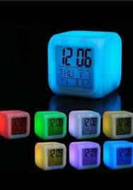 night light alarm clock magic color changing kids bedroom bedside night light alarm clock