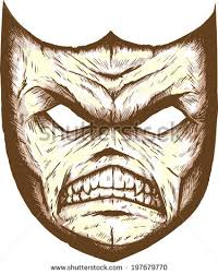 scary mask scary mask stock illustration 197679770