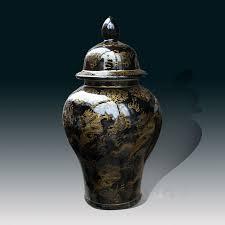Large Chinese Vases Tall Large Chinese Ceramic Porcelain Vase Black Gold Dragon Ginger
