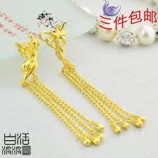 earrings models alluvial gold earrings imitation gold earrings 24k gold plated