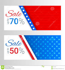 American Flag Header Set Of Modern Vector Horizontal Banners Page Headers With Stripes