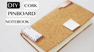 pin board diy cork pinboard notebook journal