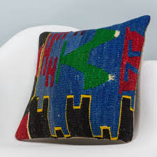Pillow Store Chevron Multi Color Kilim Pillow Cover 16x16 3341 U2013 Kilim Pillow Store