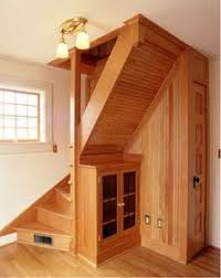 rustic natural wooden spiral stairs for small space for home