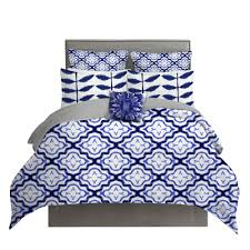 Electric Blue Duvet Cover Shibori Morrocan Pattern Duvet Cover Project Cottage