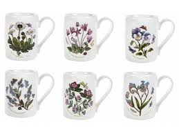 Portmeirion The Botanic Garden by Portmeirion Botanic Garden 10 Ounce Tankard Coffee Mugs Assorted