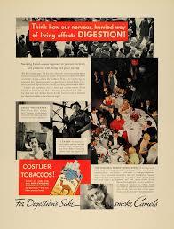 1936 ad camel cigarettes tobacco digestion flinn fisher original