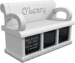 cremation memorial bench for the o u0027leary family milano monuments
