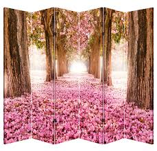 canvas room divider 6 panel folding screen room canvas divider pink pathway massage