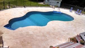 ivory travertine pool deck u0026 coping travertine oasis pinterest