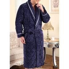 robe de chambre hommes robe de chambre homme matelassée bleu marine lepeignoir fr