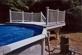 minimalist above ground pool decks design blue water like infinite