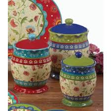 kitchen canister set certified international annabelle kitchen canister set 3 pc