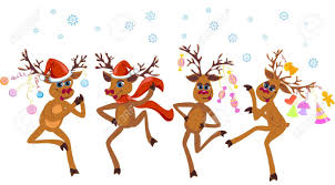 Dancing Reindeer Christmas Decorations by Christmas Dancing Reindeer Royalty Free Cliparts Vectors And