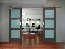 decorating elegant workspace of home office sliding door feat