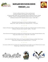 md craft beer dinner menu punk u0027s backyard grill