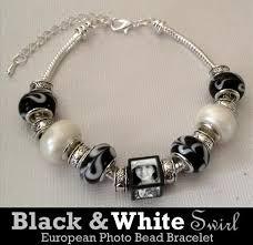 bead bracelet european images Black and white swirl european photo beads bracelet kit photo jpeg
