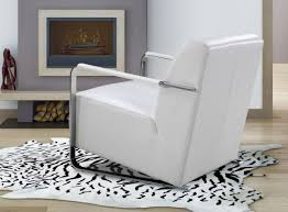 Modern Leather Lounge Chair Bison Modern White Leather Lounge Chair