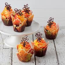 halloween cupcake liners fall leaves cupcakes