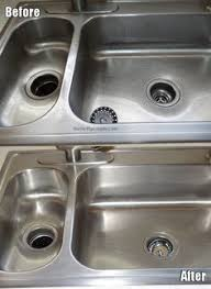 Cleaning Kitchen Sink by How To Clean And Polish A Stainless Steel Sink Stainless Steel