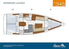 Luxury Yacht Floor Plans by Yacht Charter Hanse 345 Rok Produkcji 2017 Moc 18 Km Port