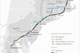 Amtrak System Map by Northeast Rail Report Proposes 2 More Amtrak Stops In Philly