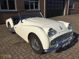 triumph tr3 tr3a for restoration cabriolet roadster 1960 white
