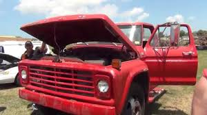 Old Ford Truck Engines - old ford f 600 truck at pinellas county auction gas engine