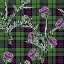 Scotch Plaid Scottish Tartan Fabric Ebay