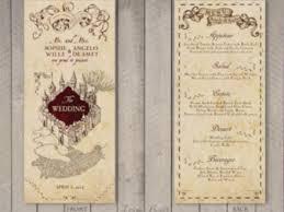 harry potter wedding invitations 35 marauders map invitation marauders map wedding invitation etsy
