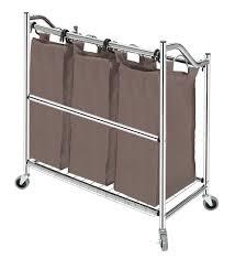Quad Laundry Hamper by Amazon Com Storagemaniac 3 Section Heavy Duty Laundry Hamper