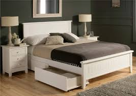 White Bed Make A Foundation Bed With Drawers Queen Bedroom Ideas