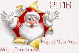 merry and happy new year 2016 santa wishes