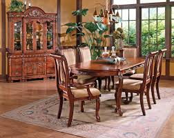 Pennsylvania House Cherry Dining Room Set Steve Silver Harmony 7 Piece Traditional Oval Dining Table And